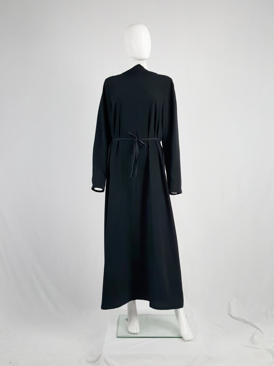 vintage Maison Martin Margiela black backwards maxi dress spring 1999 133939