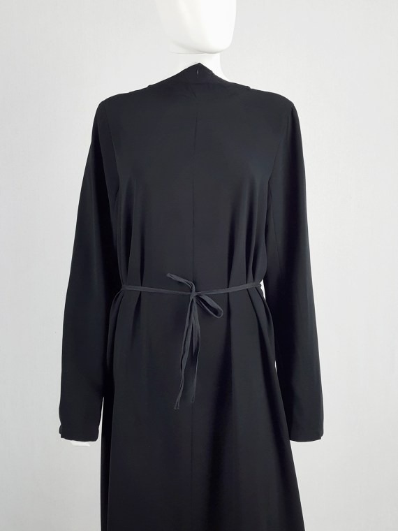 archive Maison Martin Margiela black backwards maxi dress — spring 1999