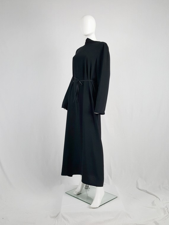 vintage Maison Martin Margiela black backwards maxi dress spring 1999 134201