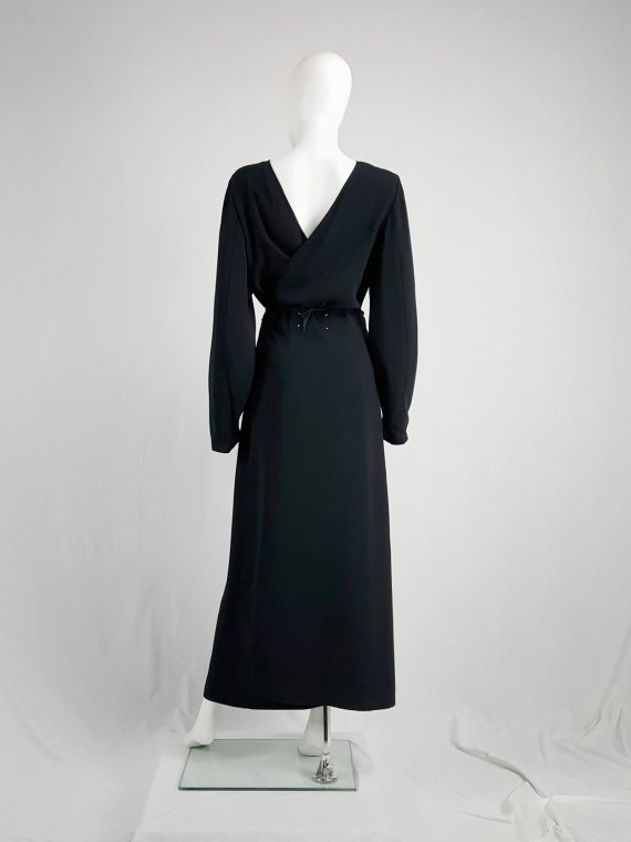 vintage Maison Martin Margiela black backwards maxi dress spring 1999 135541