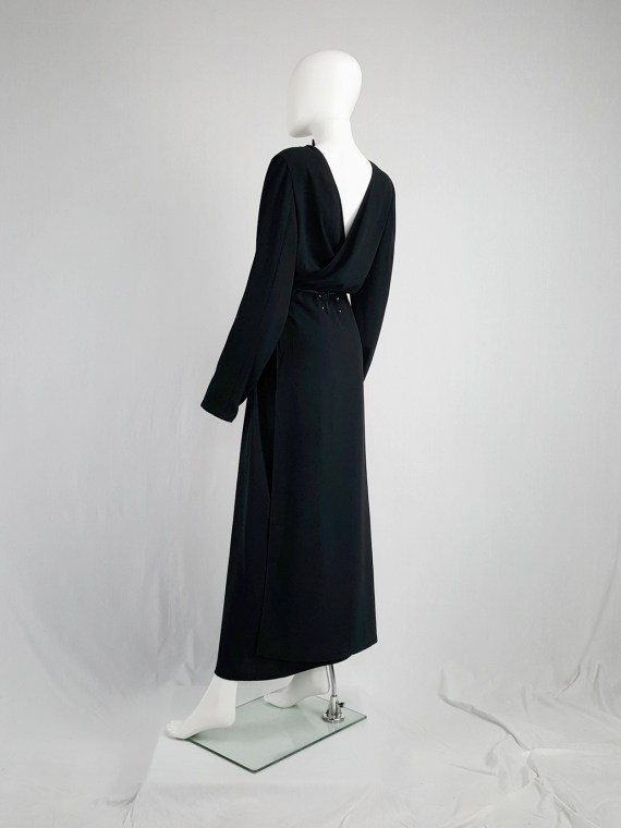 vintage Maison Martin Margiela black backwards maxi dress spring 1999 135814