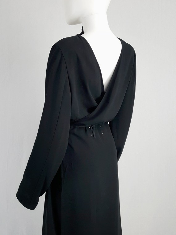 archive Maison Martin Margiela black backwards maxi dress — spring 1999