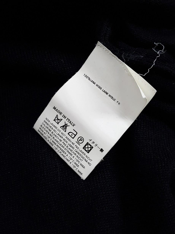 Maison Martin Margiela black jumper with 4 sleeves — fall 2007