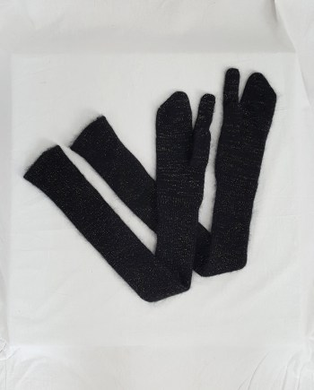 Maison Martin Margiela black long tabi gloves — fall 2004