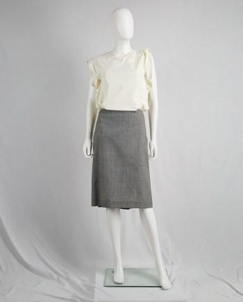 Maison Martin Margiela grey oversized pied de poule skirt — spring 2001