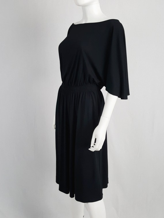vintage Maison Martin Margiela replica black 1980s batwing dress fall 2005 152952(0)