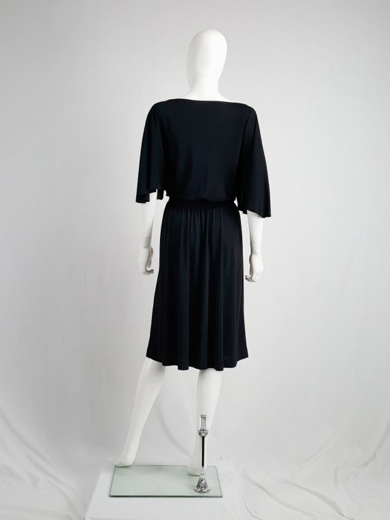 vintage Maison Martin Margiela replica black 1980s batwing dress fall 2005 153047