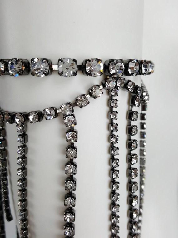 Maison Martin Margiela silver armlet with dangling gemstones — spring 2004
