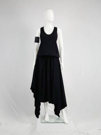 Silent Damir Doma black racerback maxi dress with handkerchief skirt