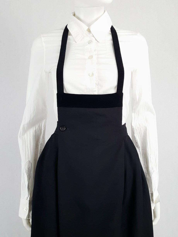 Comme des Garçons black apron dress — 1988
