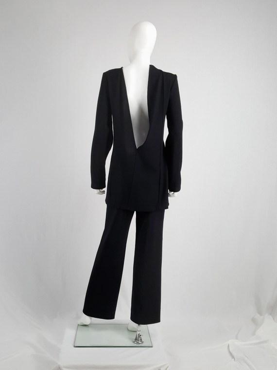 vaniitas vintage Ann Demeulemeester black tunic with deep cut out back fall 2015 100938