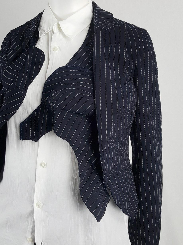 Comme des Garçons blue blazer with padded bumps — spring 2009