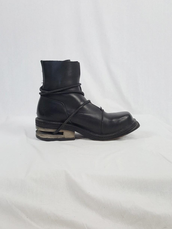 Dirk Bikkembergs black mountaineering boots with metal heel (43) — late 90's