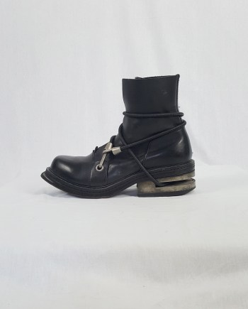 Dirk Bikkembergs black mountaineering boots with metal heel (43) — late 90's