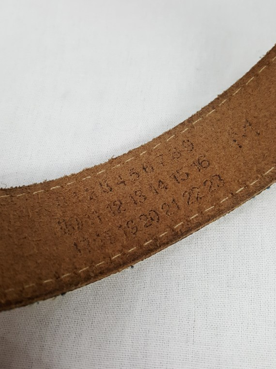 vaniitas vintage Maison Martin Margiela mens bleached denim and leather bracelet spring 2003 152447