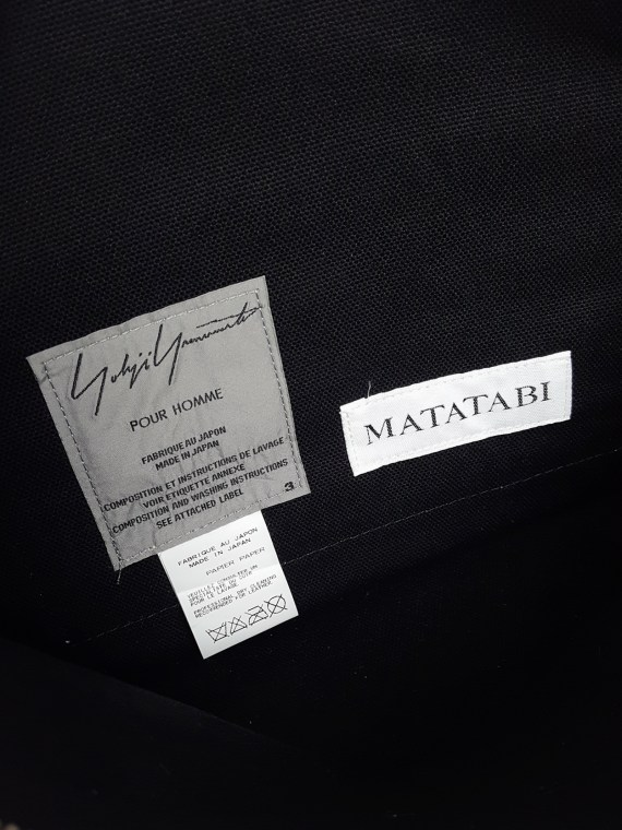 Yohji Yamamoto × Matatabi black and white marbled paper clutch bag — fall 2015