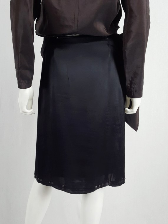 Maison Martin Margiela black skirt with round studs — fall 2006