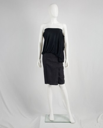 Maison Martin Margiela denim skirted shorts with front flap — fall 2007