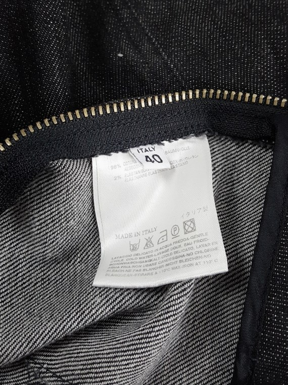 Maison Martin Margiela denim skirted shorts with front flap — fall 2007