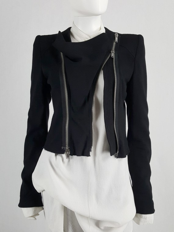 Haider Ackermann black jacket with double front zipper — fall 2009