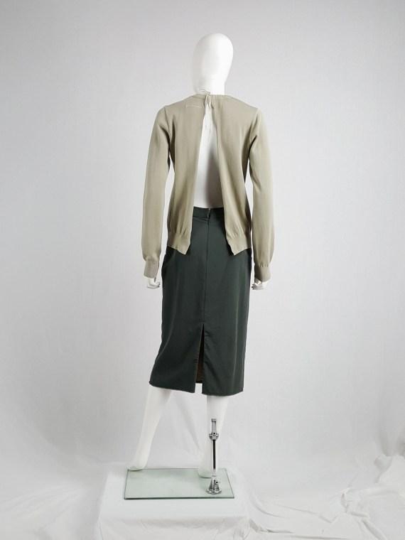 Maison Martin Margiela 6 beige jumper with open back by Miss Deanna