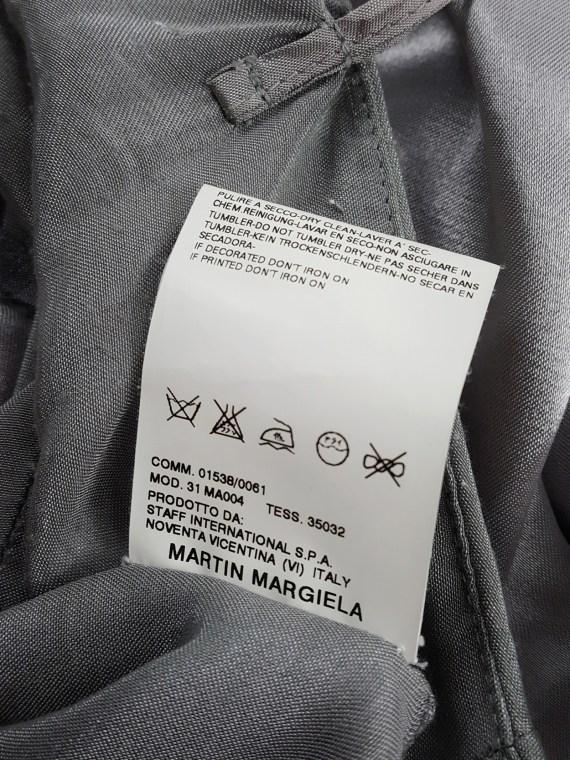 Maison Martin Margiela light blue inside out skirt — spring 2006