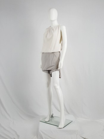 Rick Owens ANTHEM grey silk lotus shorts — spring 2011