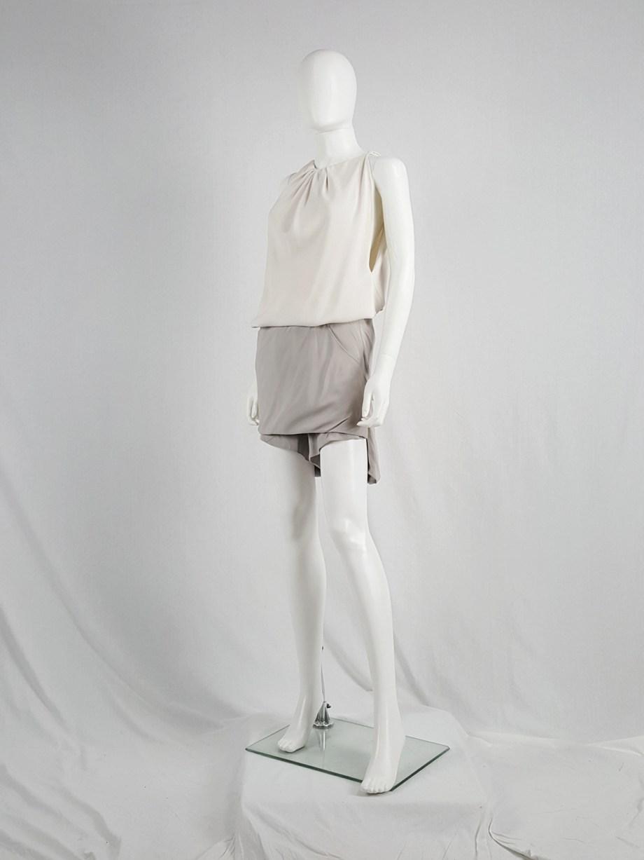 Rick Owens ANTHEM grey silk lotus shorts — spring 2011