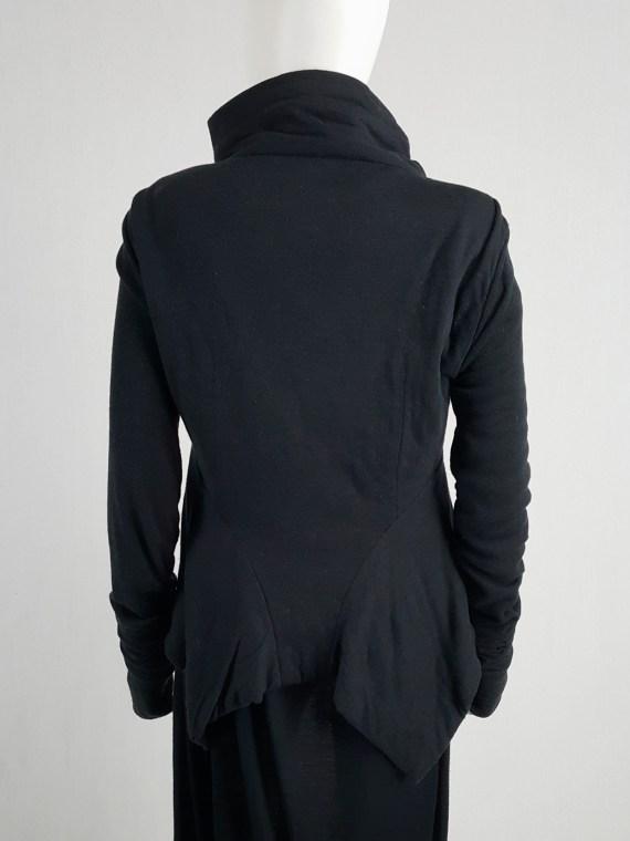 Rick Owens Lilies black classic biker jacket with asymmetric collar