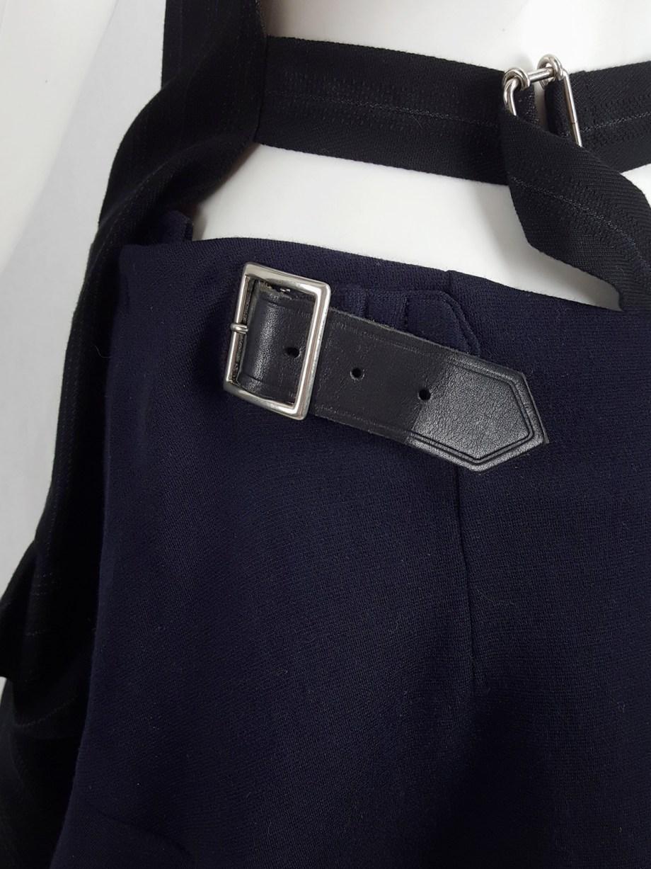 Comme des Garçons navy skirt with back ruffles — fall 2006