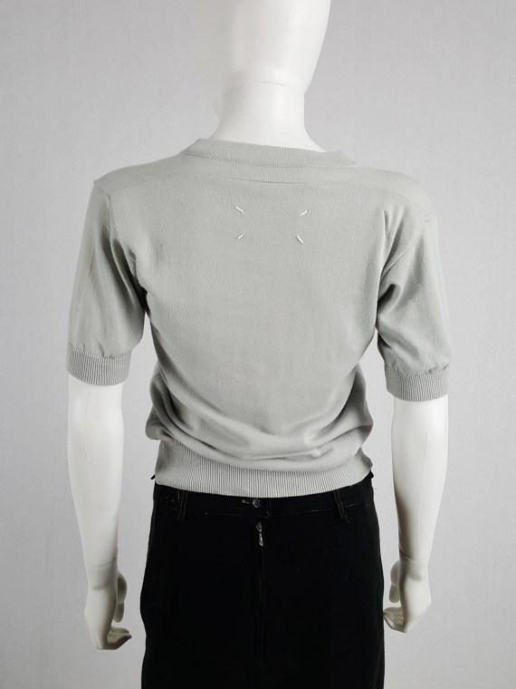 Maison Martin Margiela sage green flat t-shirt — spring 1998