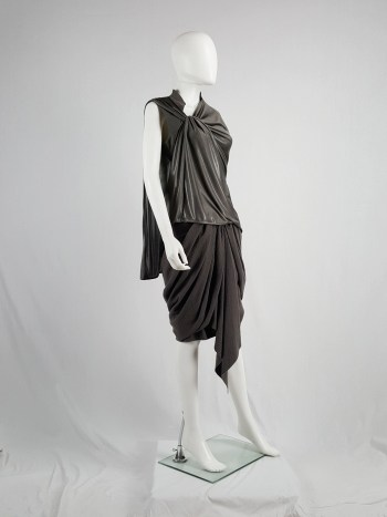 A.F. Vandevorst bronze draped top with open back — spring 2011