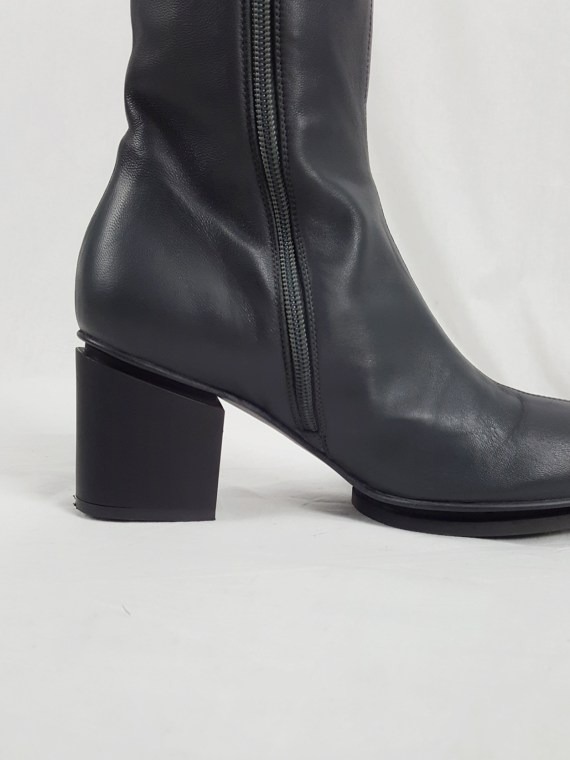 Maison Martin Margiela grey ankle boots with tall sock overlayer (37) — fall 2009