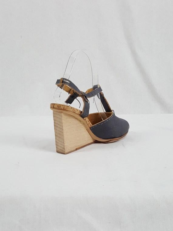 Maison Martin Margiela grey prototype sandals with handwriting (37) — spring 2007