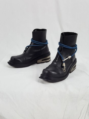 Dirk Bikkembergs black mountaineering boots with blue elastic (41) — 1995