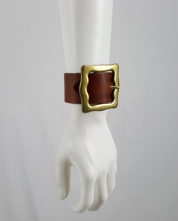 Maison Martin Margiela brown belt as bracelet — spring 2009