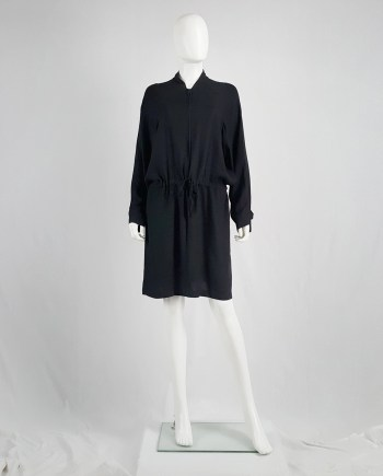 Ann Demeulemeester black bomber-style dress