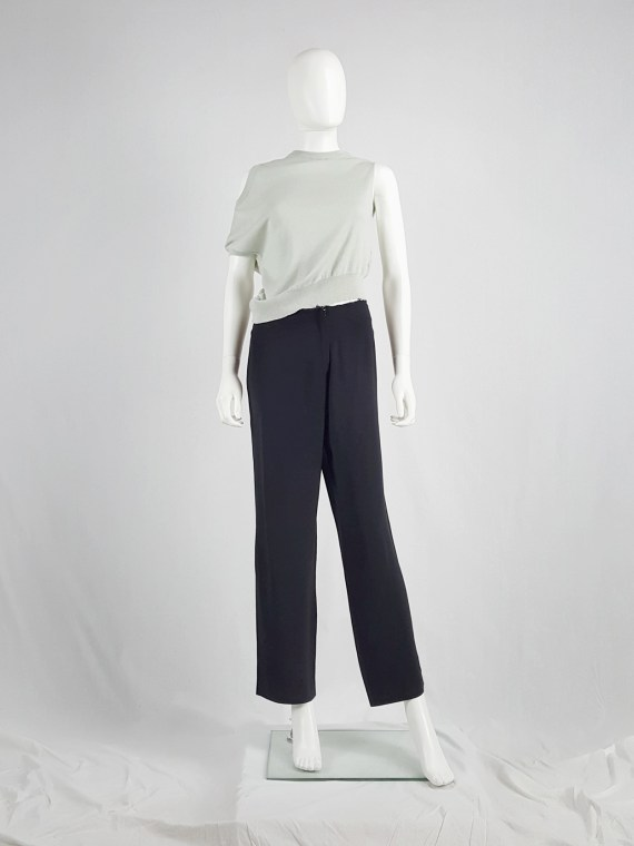 Maison Martin Margiela black trousers with cut off waist — 1996/1998