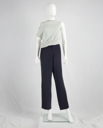 Maison Martin Margiela black trousers with cut off waist — 1996/1998