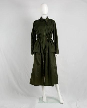 Issey Miyake Windcoat green oversized or dress-shaped parka — 1990s