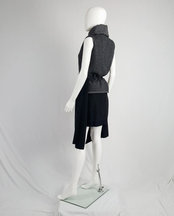 Maison Martin Margiela black skirt worn as an apron — spring 2004