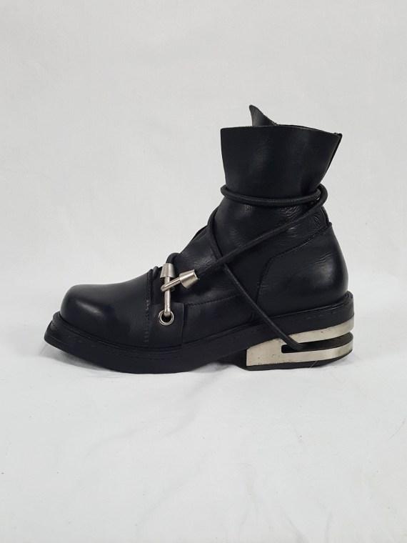 Vaniitas vintage Dirk Bikkembergs black mountaineering boots with black and blue elastic spring 1999 152751 copy