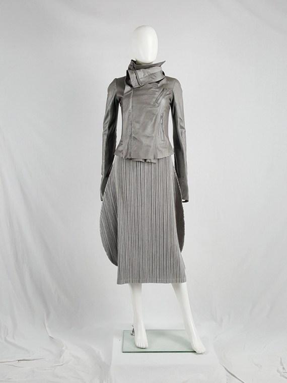 Issey Miyake Pleats Please grey pleated circular skirt