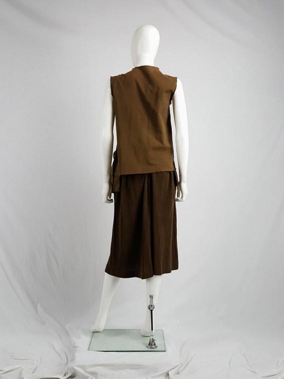 Comme des Garçons brown top with oversized braid