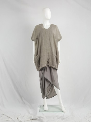 Jan-jan Van Essche beige oversized tunic with square neckline
