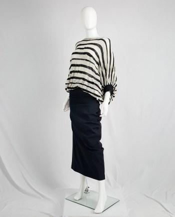 Junya Watanabe beige and black striped circle jumper — fall 2009