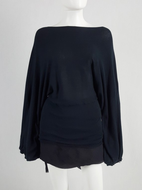 vaniitas vintage Ann Demeulemeester black jumper with wide sleeves spring 2001 162219