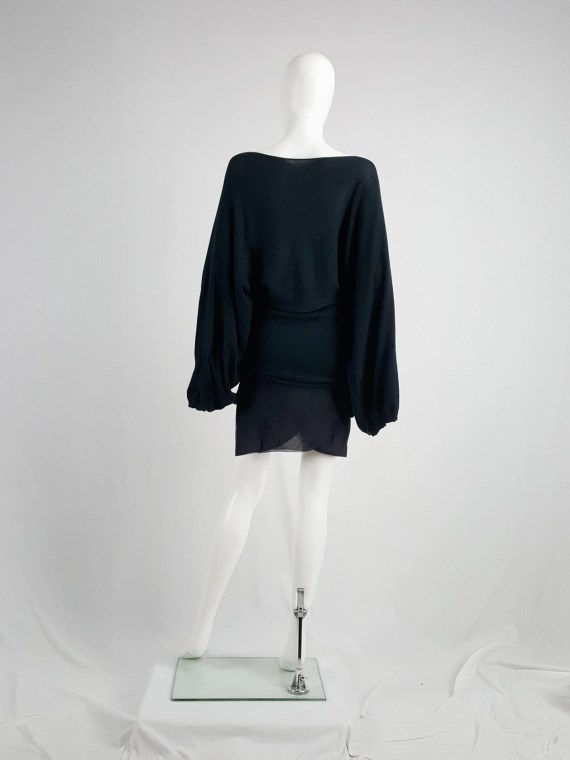 vaniitas vintage Ann Demeulemeester black jumper with wide sleeves spring 2001 162440