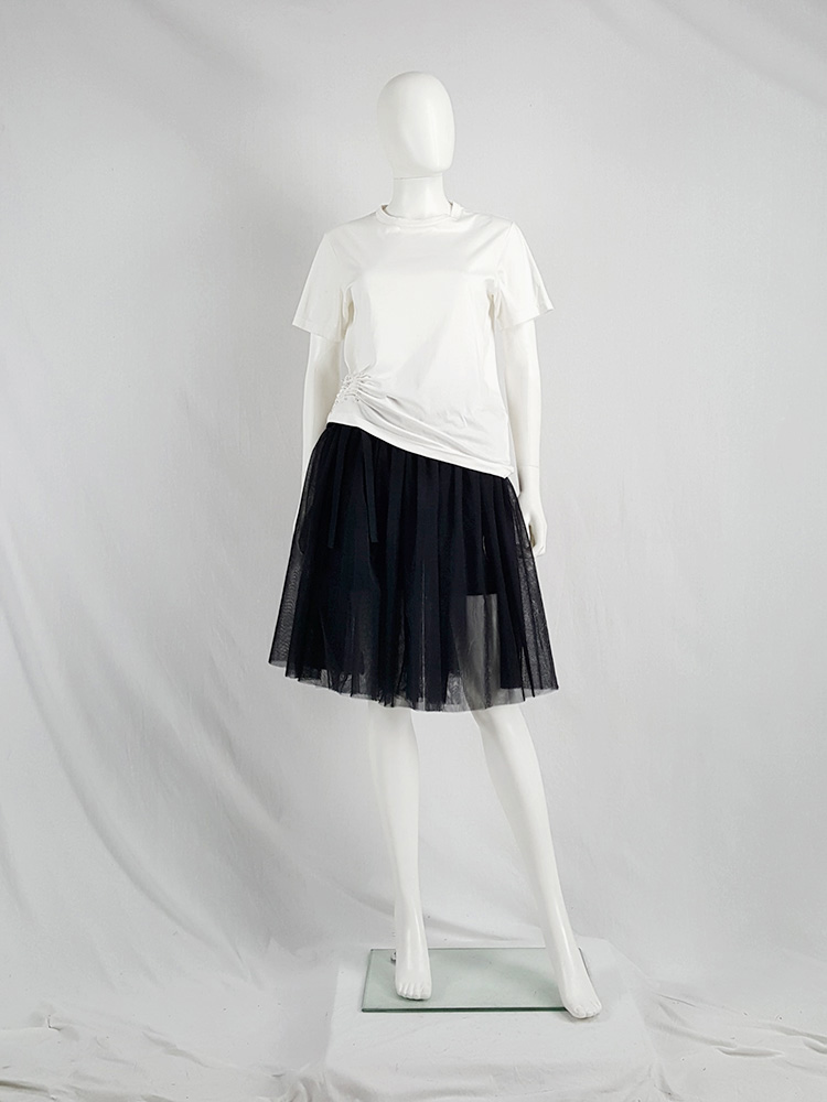 vaniitas vintage Comme des Garcons Black black tulle skirt AD 2013 135603