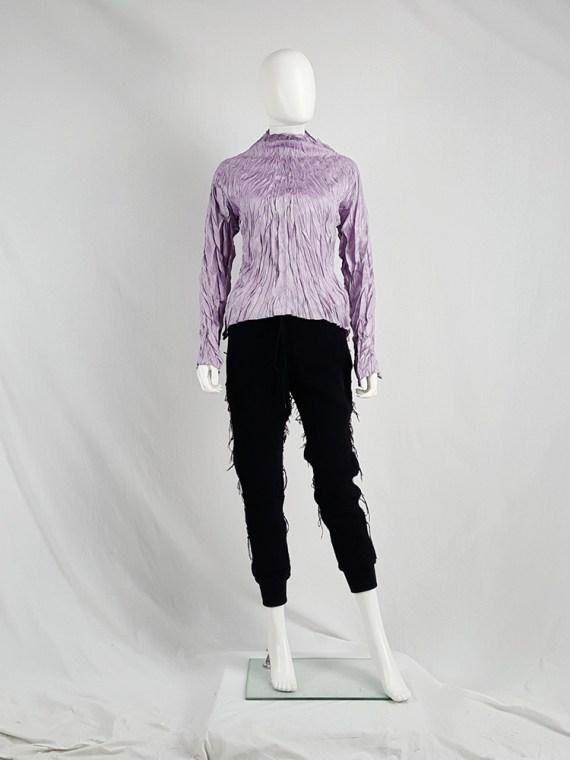 vaniitas vintage Issey Miyake Pleats Please creased purple jumper 1446